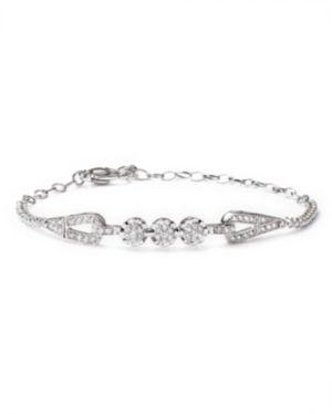 Diamond Cluster Bracelet in 14K White Gold, 1.0 ct. t.w.