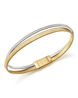 Marco Bicego 18K White and Yellow Gold Masai Two Row Bracelet