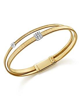 Marco Bicego - 18K Yellow Gold Masai Two Strand Crossover Diamond Bracelet