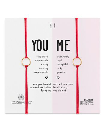 Dogeared - You & Me Friendship Bracelets, Set of 2