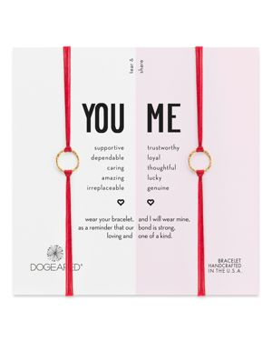 Dogeared You & Me Friendship Bracelets, Set of 2