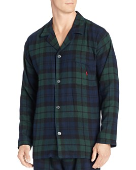 Polo Ralph Lauren - Black Watch Plaid Flannel Pajama Top