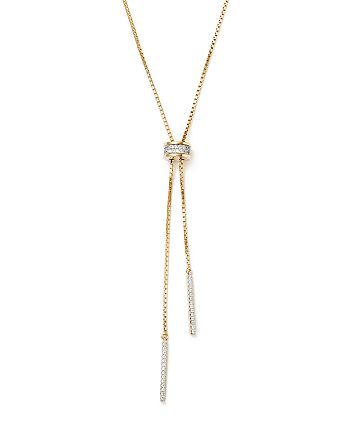 Bloomingdale's - Diamond Bolo Lariat Necklace in 14K Yellow Gold, .30 ct. t.w.- 100% Exclusive