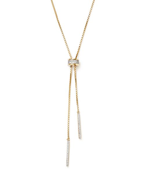 Bloomingdale's - Diamond Bolo Lariat Necklace in 14K Yellow Gold, .30 ct. t.w. - 100% Exclusive