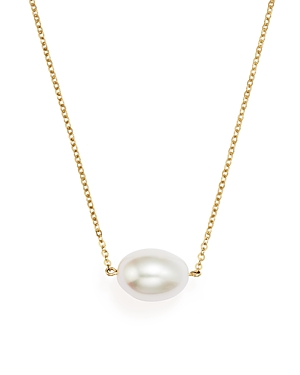 Cultured Freshwater Pearl Pendant Necklace in 14K Yellow Gold