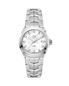 TAG Heuer Link Mother-Of-Pearl and Diamond Watch, 32mm - Bloomingdale's_0