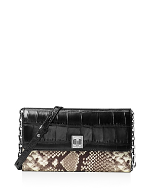 Michael Michael Kors Natalie Extra Large Embossed Leather Chain Wallet
