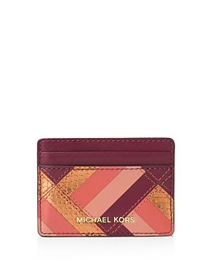 Michael Michael Kors Jet Set Travel Marquetry Patchwork Card Case