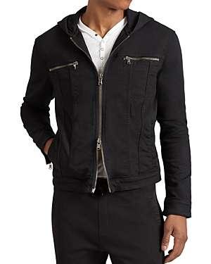 John Varvatos Star Usa Hooded Zip-Front Knit Jacket