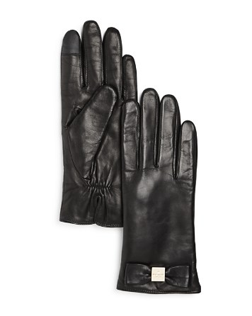 $kate spade new york Bow Tech Gloves - Bloomingdale's