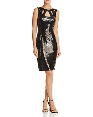 Eliza J Cutout Sequin Dress
