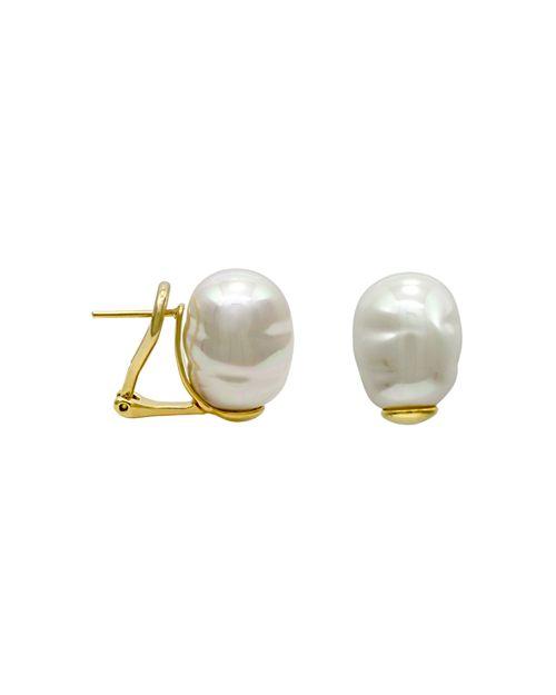 Majorica Simulated Baroque Pearl Stud Earrings
