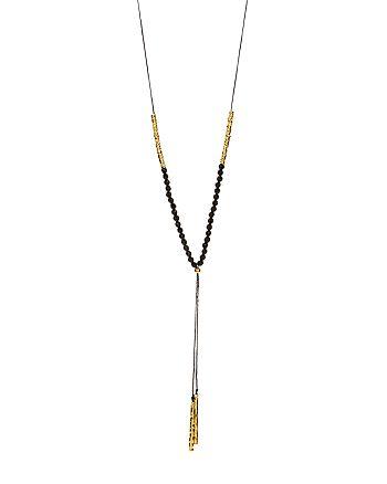 """Gorjana - Black Onyx Power Beaded Necklace, 32"""""""