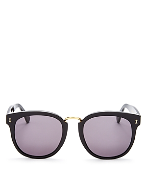 Illesteva Sardinia Oversized Round Mirrored Sunglasses, 53mm