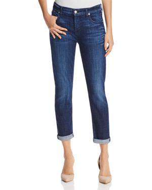 7 For All Mankind Jeans - Josefina Boyfriend in Bordeaux Broken Twill 1835147