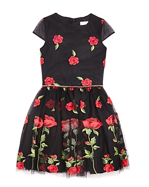David Charles Girls Rose Print Dress  Big Kid