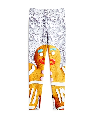 Terez Girls' Gingerbread Man & Snowflake Print Leggings - Little Kid