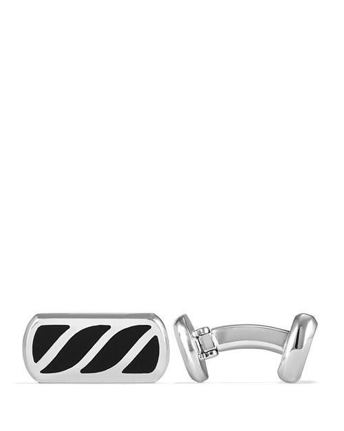 David Yurman - Graphic Cable Cufflinks with Black Onyx