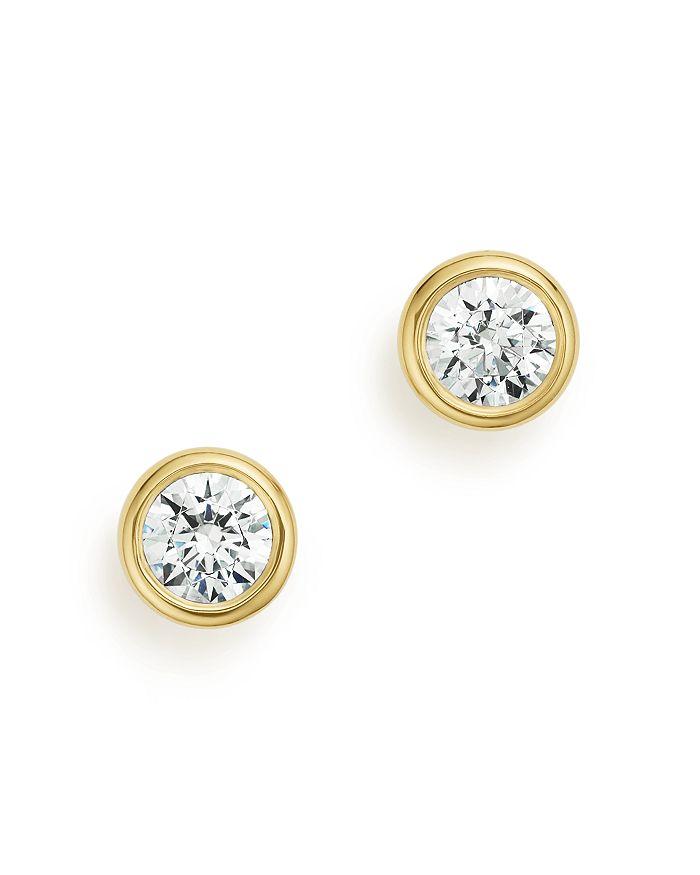 Bloomingdale's - Diamond Bezel Stud Earrings in 14K Yellow Gold,  0.50 ct. t.w. - 100% Exclusive