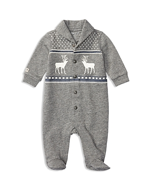 Ralph Lauren Childrenswear Infant Boys French Terry Reindeer Coverall  Sizes 39 Months