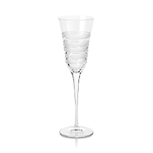 Vietri Optical Swirl Champagne Flute