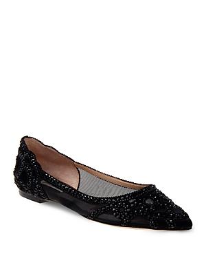 Gigi Embellished Pointed-Toe Flats