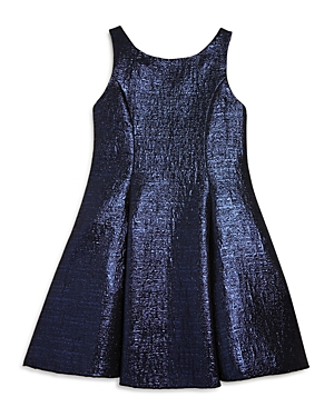 Zoe Girls' Metallic Jacquard Flared Dress - Big Kid