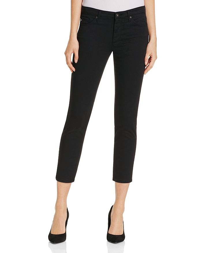 57d9e10c672 AG Prima Crop Jeans in Black | Bloomingdale's