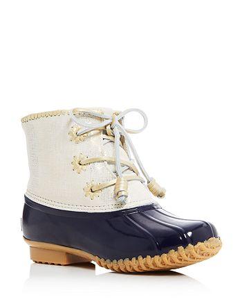 9db2c1d7b65 Jack Rogers Chloe Metallic Leather Cuff Duck Boots | Bloomingdale's