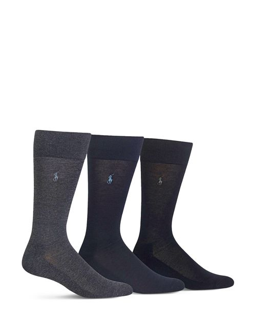 Polo Ralph Lauren - Cushioned Crew Socks - Pack of 3