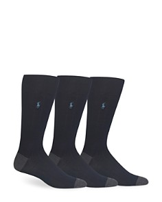Polo Ralph Lauren Soft Touch Rib Knit Trouser Socks - Pack of 3 - Bloomingdale's_0