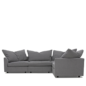 A sophisticated take on the pit sectional, this indulgent design invites you to sink into in the plush down-blend cushions. French seams and flexible seating arrangements create a versatile and stylish addition to your home.