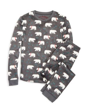 Pj Salvage Girls' Polar Bear Fleece Pajama Set - Little Kid