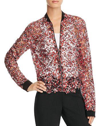 Elie Tahari - Glenna Sheer Floral Lace Bomber Jacket - 100% Exclusive