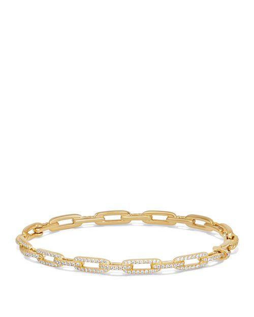 David Yurman - Stax Chain Link Bracelet with Diamonds in 18K Gold