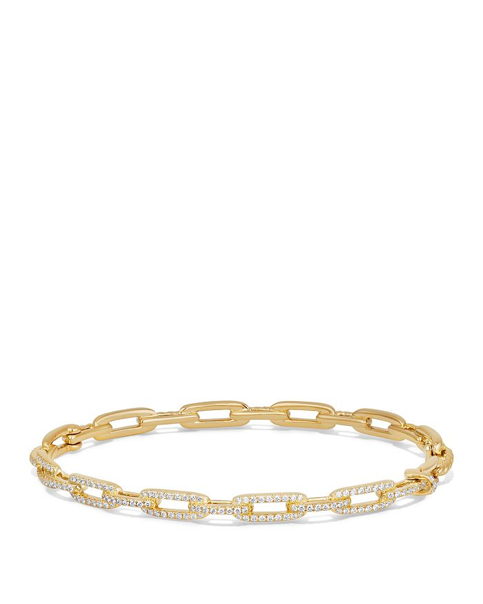 David Yurman - Stax Chain Link Bracelet with Diamonds in 18K Gold