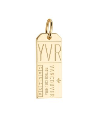 JET SET CANDY VANCOUVER, CANADA YVR LUGGAGE TAG CHARM