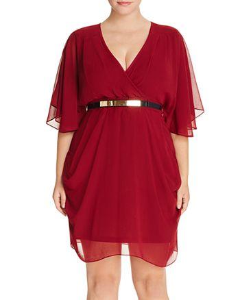 City Chic Plus - Flutter-Sleeve Dress