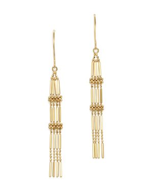 Beaded Chain Tassel Earrings in 14K Yellow Gold - 100% Exclusive