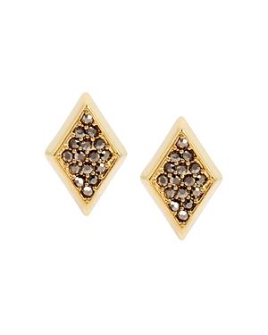 Charm & Chain Encrusted Stud Earrings