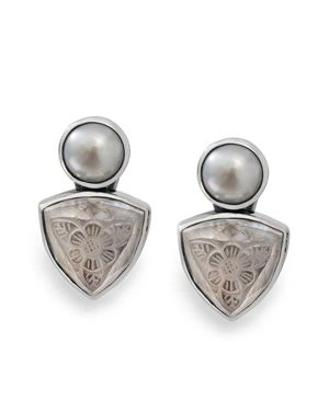 Stephen Dweck Etched Clip On Earrings
