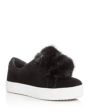 Sam Edelman Leya Faux Fur Pom-Pom Slip-On Sneakers