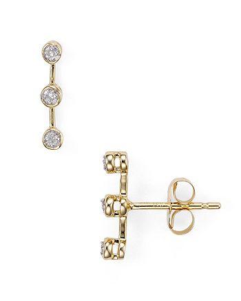 Adina Reyter - Three-Diamond Stud Earrings