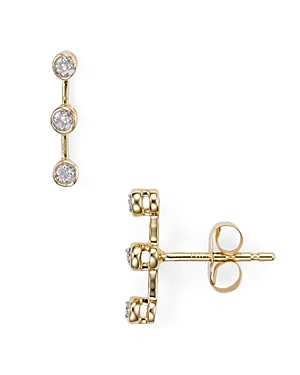 Adina Reyter Three-Diamond Stud Earrings