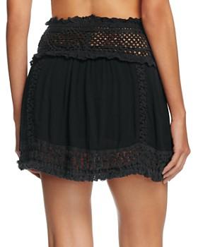 Surf Gypsy - Crochet Fringe Mini Skirt Swim Cover-Up
