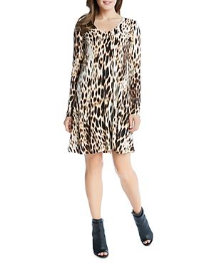 Karen Kane Blurred Cheetah Print Swing Dress