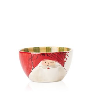 Vietri Old St. Nick Red Cereal Bowl