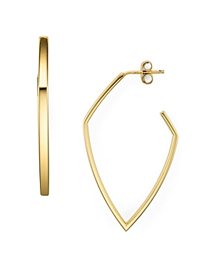 Argento Vivo Angular Hoop Earrings