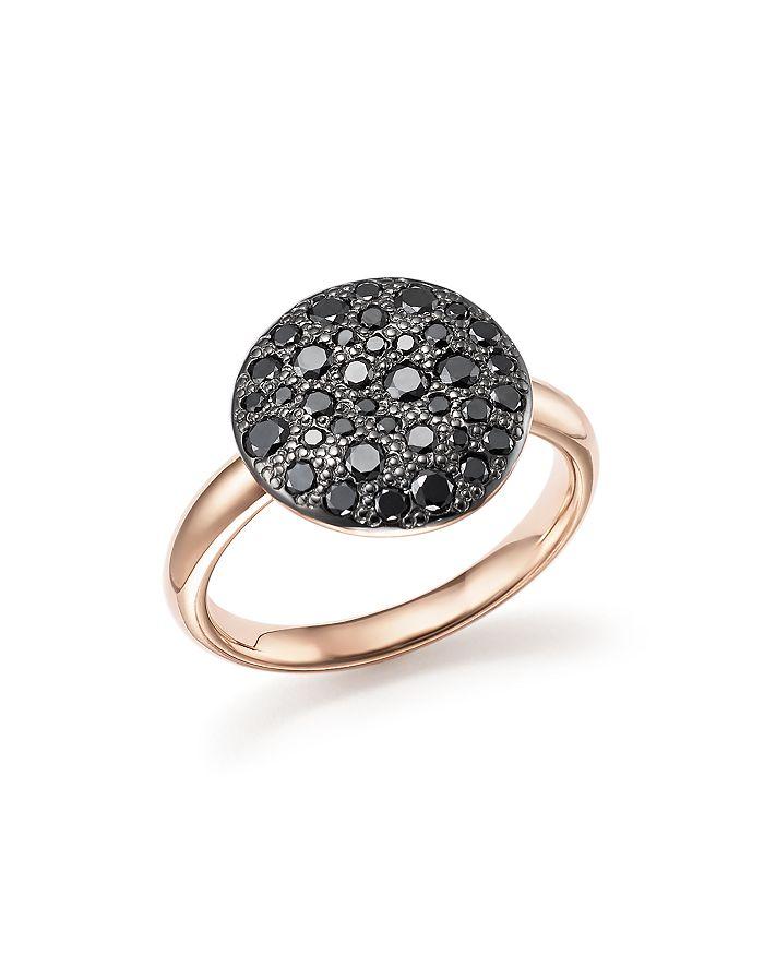 Pomellato - Sabbia Ring with Black Diamonds in Burnished 18K Rose Gold