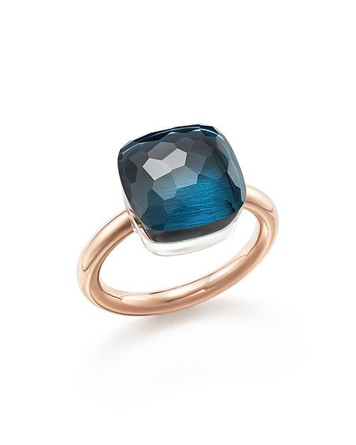 Pomellato - Nudo Maxi Gemstone & Diamond Ring in 18K White & Rose Gold